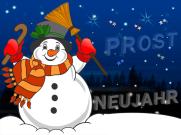 Schneemann – Prost Neujahr !