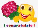 Smiley – birthday – i congratulate