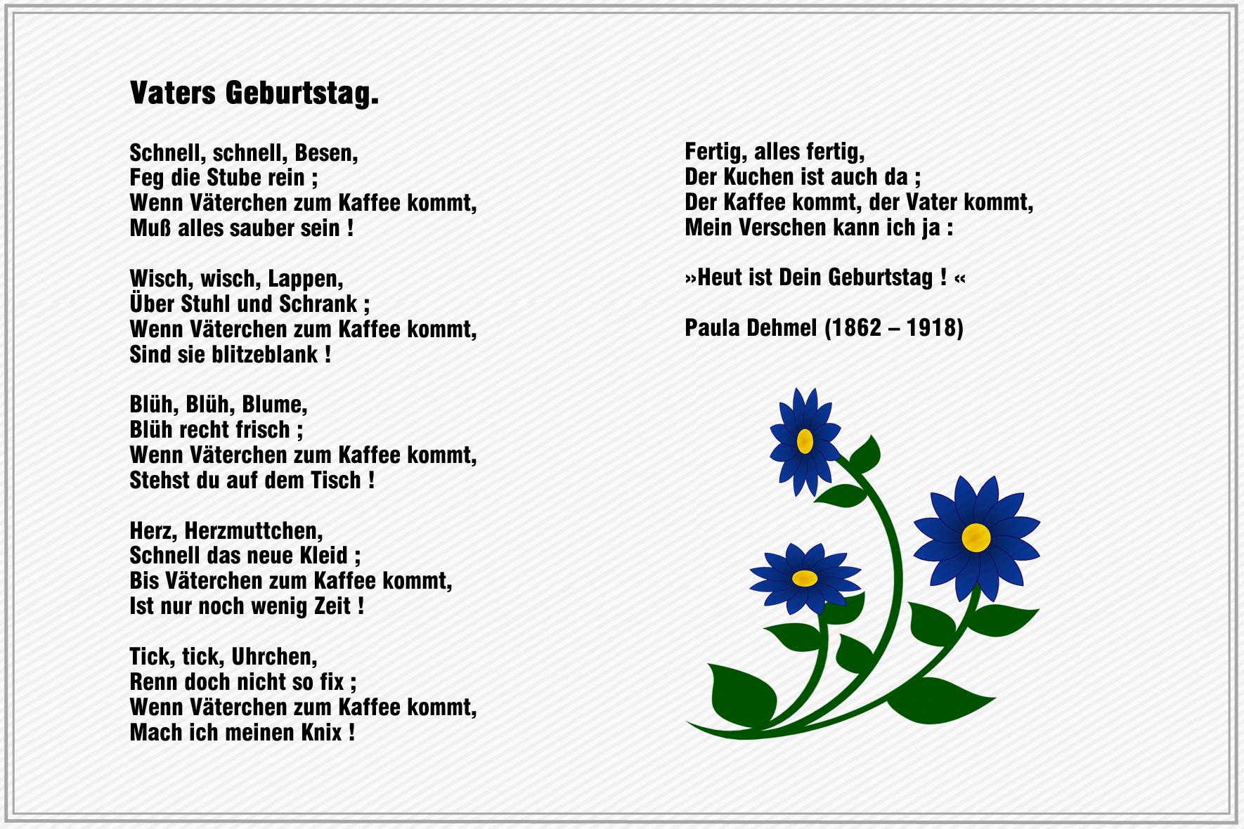 Geburtstagsgedichte Gedichte