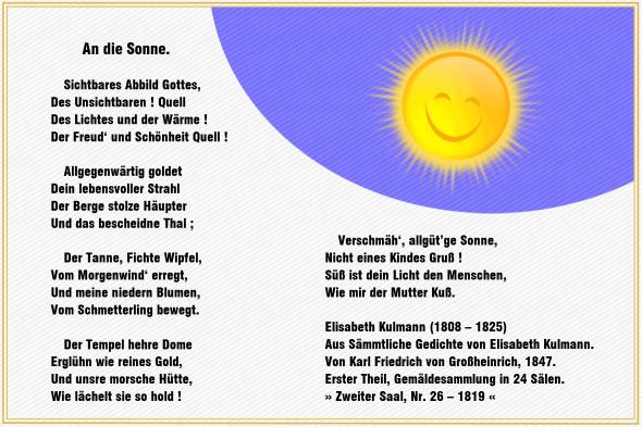 An die Sonne – Elisabeth Kulmann