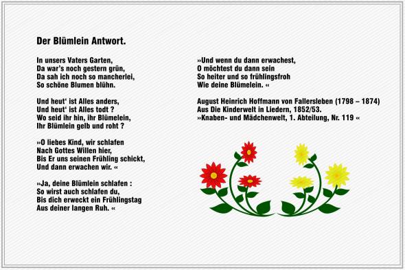 Der Bluemlein Antwort – Hoffmann von Fallersleben
