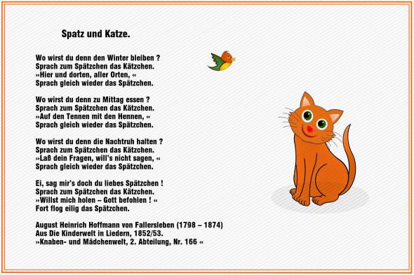 Spatz und Katze – Hoffmann von Fallersleben