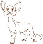 Fuchs – Malvorlage Farben