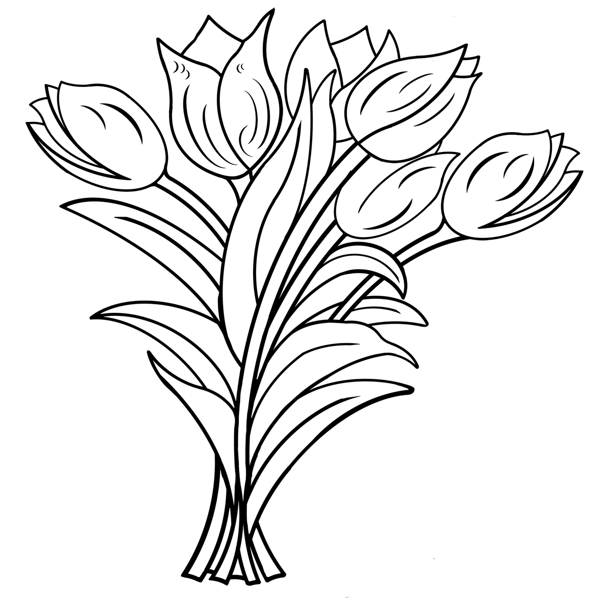 malvorlage tulpenstrauß  Coloring and Malvorlagan