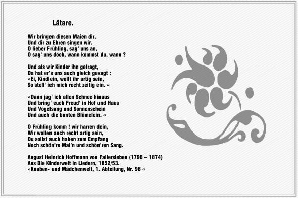 Laetare – Hoffmann von Fallersleben