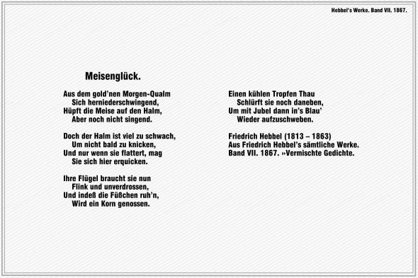 Meisenglueck – Friedrich Hebbel